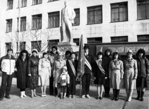 Участники последнего районного слета пионеров